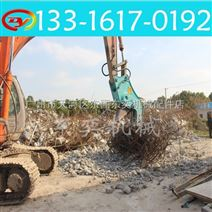 广州拆房液压钳,挖掘机混凝土粉碎钳