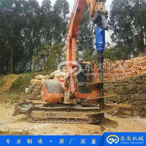 挖机螺旋打桩机 工程机械液压钻机