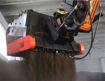 芬兰阿陆土壤修复设备筛分破碎铲斗混合土壤