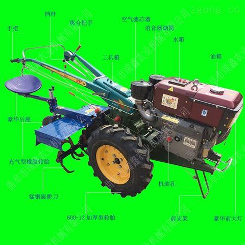 新款20馬力手扶拖拉機 水田旱地打地機視頻